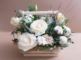 กระเช้าดอกไม้ สด
